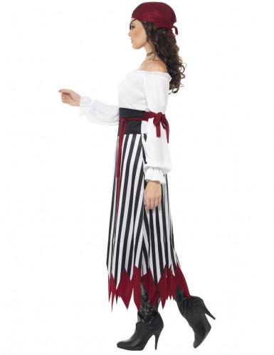 Disfraz de pirata rayas mujer-1