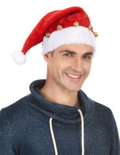 Gorro de Papá Noel con cascabeles-1
