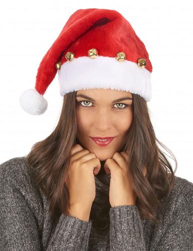 Gorro de Papá Noel con cascabeles-2