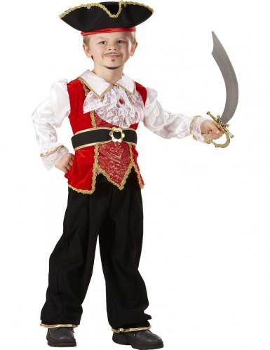 Disfraz de pirata de lujo niño