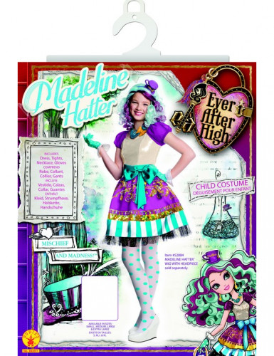 Disfraz súper lujo Madeline Hatter™ Ever After High™ niña-1