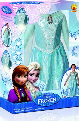 Disfraz de lujo luminoso y sonoro Elsa Frozen™ niña caja-1