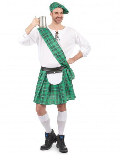 Disfraz escocés verde hombre