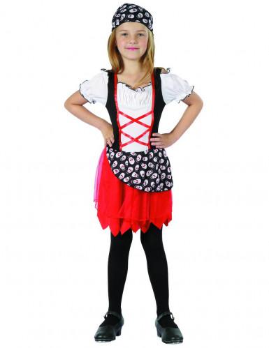 Disfraz pirata niña rojo