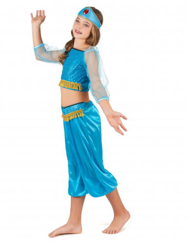 Disfraz bailarina oriental azul niña-1