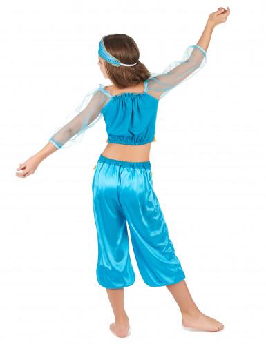 Disfraz bailarina oriental azul niña-2