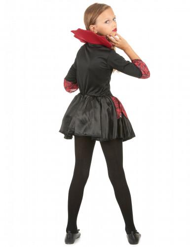 Disfraz de vampiresa niña rojo y negro-2