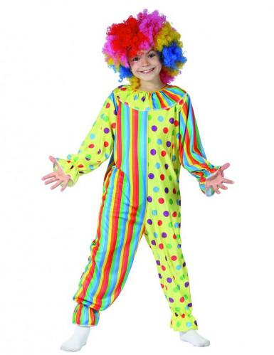 Disfraz payaso niño multicolor