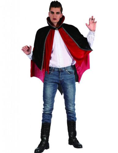 Capa vampiro rojo y negro
