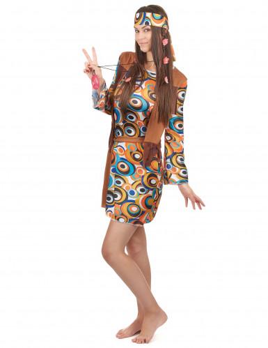 Disfraz hippie mujer marrón-1