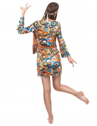 Disfraz hippie mujer marrón-2