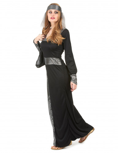 Disfraz medieval mujer negro-1
