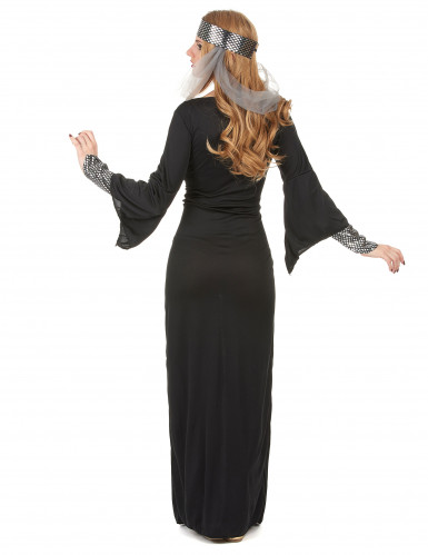 Disfraz medieval mujer negro-2
