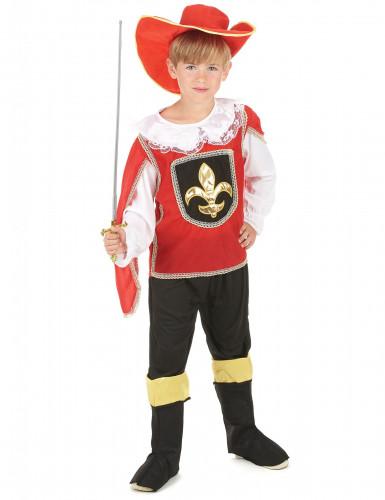 Disfraz mosquetero rojo niño