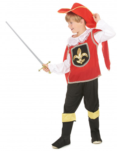 Disfraz mosquetero rojo niño-1