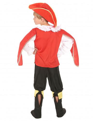 Disfraz mosquetero rojo niño-2