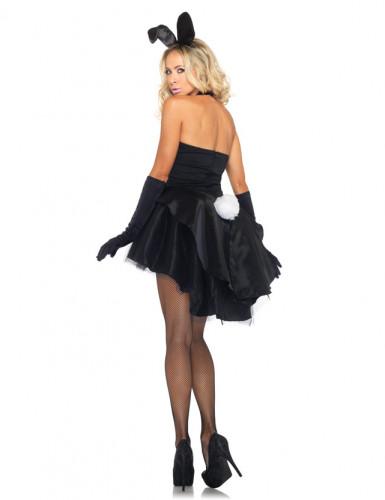Disfraz de conejita sexy blanco y negro para mujer-1