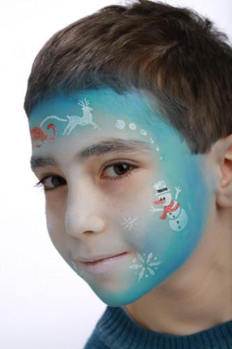 Plantilla maquillaje reutilizable Frozen-2