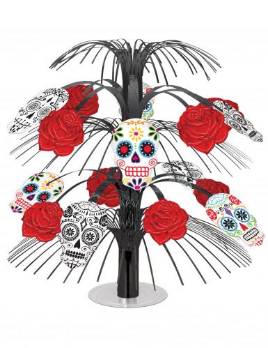 Centro de mesa Día de los Muertos rosas rojas