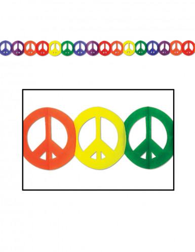 Guirnalda multicolor papel Hippie Peace