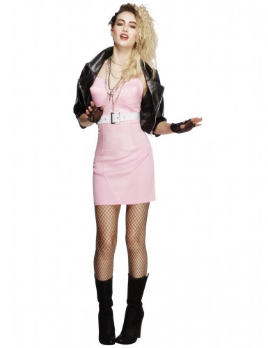 Disfraz diva rock años 80 mujer