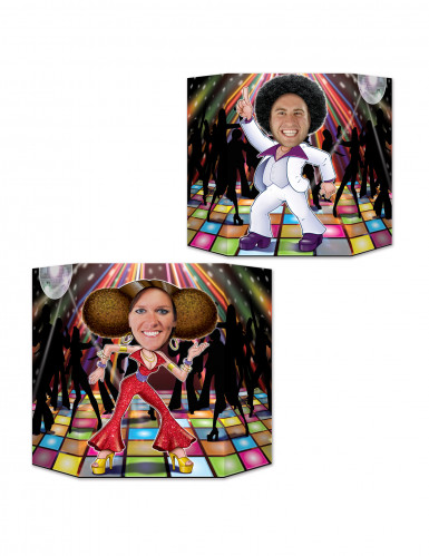 Photocall cabeza disco pareja