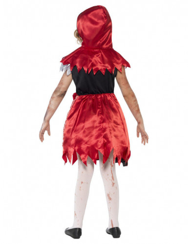 Disfraz Halloween zombie caperucita roja niña-1