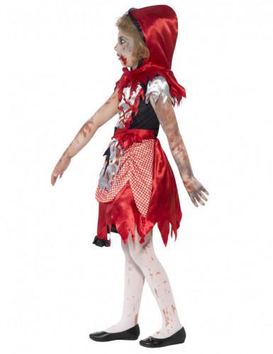 Disfraz Halloween zombie caperucita roja niña-2