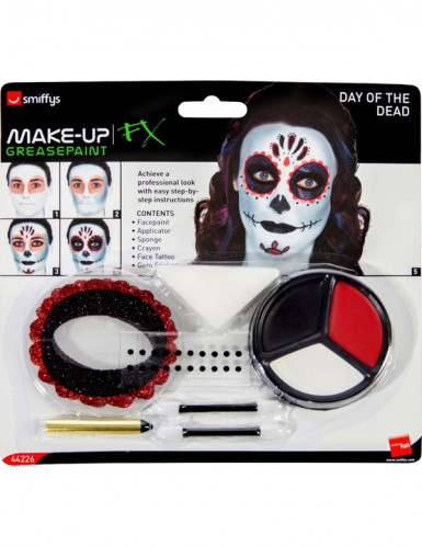 Kit de maquillaje esqueleto de colores adulto-1