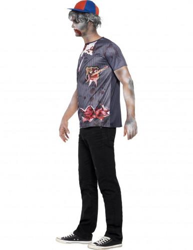 Camiseta zombie estudiante hombre Halloween-1