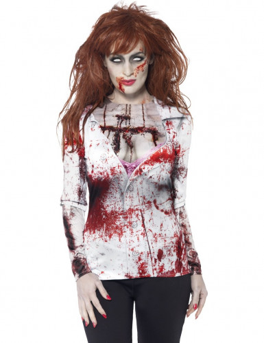 Camiseta Halloween zombie sexy mujer