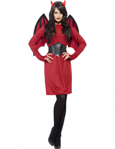 Kit disfraz y accesorios diablesa chic mujer-1