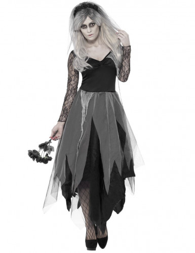Disfraz novia fantasma negro mujer Halloween