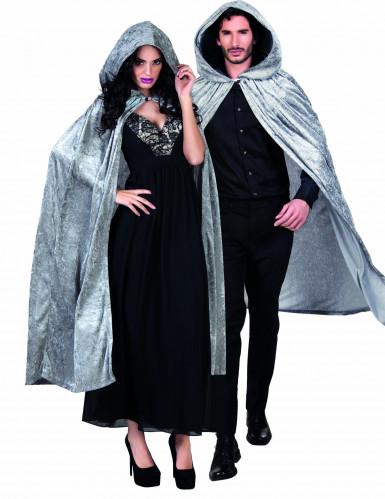 Capa gris terciopelo 170cm adulto Halloween