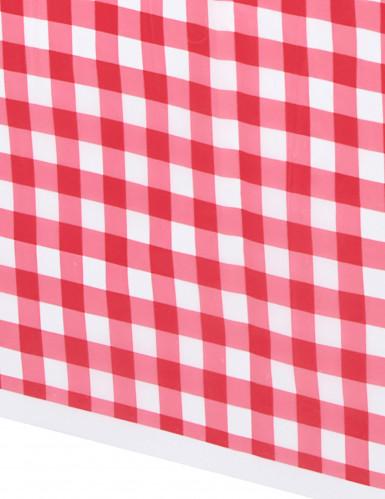 Mantel de plástico Vichy rojo 137 x 274 cm-1