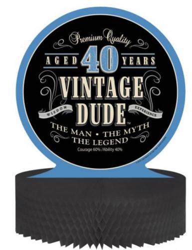 Centro de mesa cumpleaños vintage 40 años