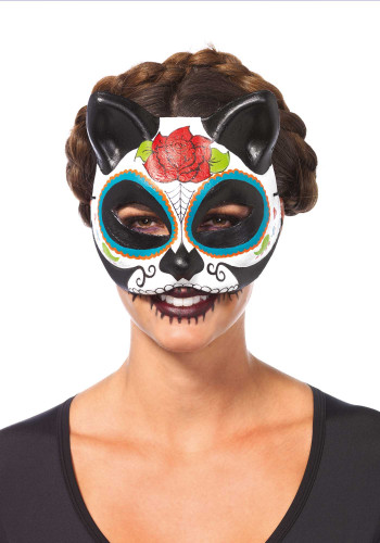 Máscara gato Día de los Muertos