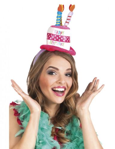 Diadema sombrero cumpleaños adulto