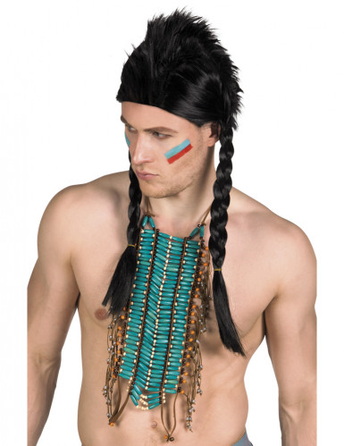 Collar indio largo azul adulto