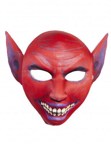 Máscara demonio rojo adulto Halloween-1