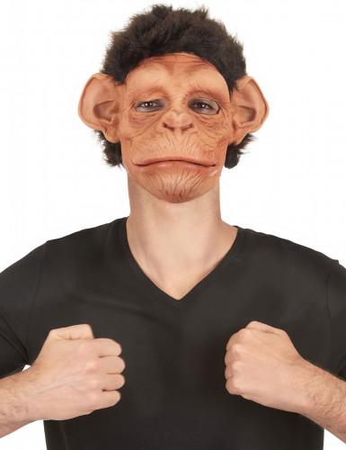 Máscara deluxe látex chimpancé articulada adulto