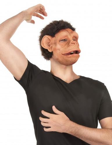 Máscara deluxe látex chimpancé articulada adulto-1