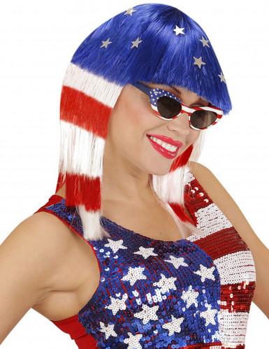 Peluca miss américa mujer