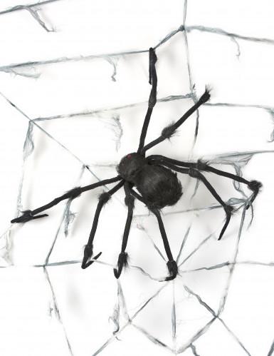 Telaraña gigante con araña 2,9 m Halloween-1