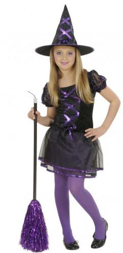 disfraz bruja negra y violeta nia halloween