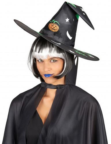 Sombrero Halloween bruja dibujos fluorescentes-1
