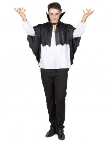 Capa vampiro negra con gorguera 100 cm Halloween