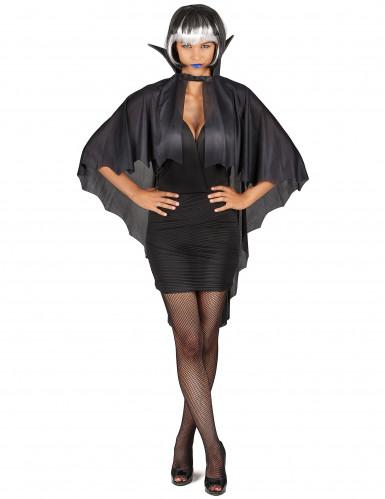 Capa vampiro negra con gorguera 100 cm Halloween-3