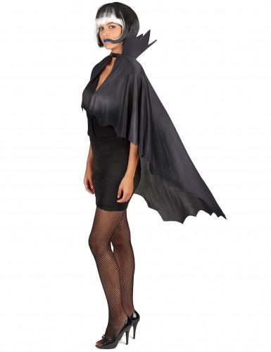 Capa vampiro negra con gorguera 100 cm Halloween-4