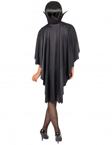 Capa vampiro negra con gorguera 100 cm Halloween-5